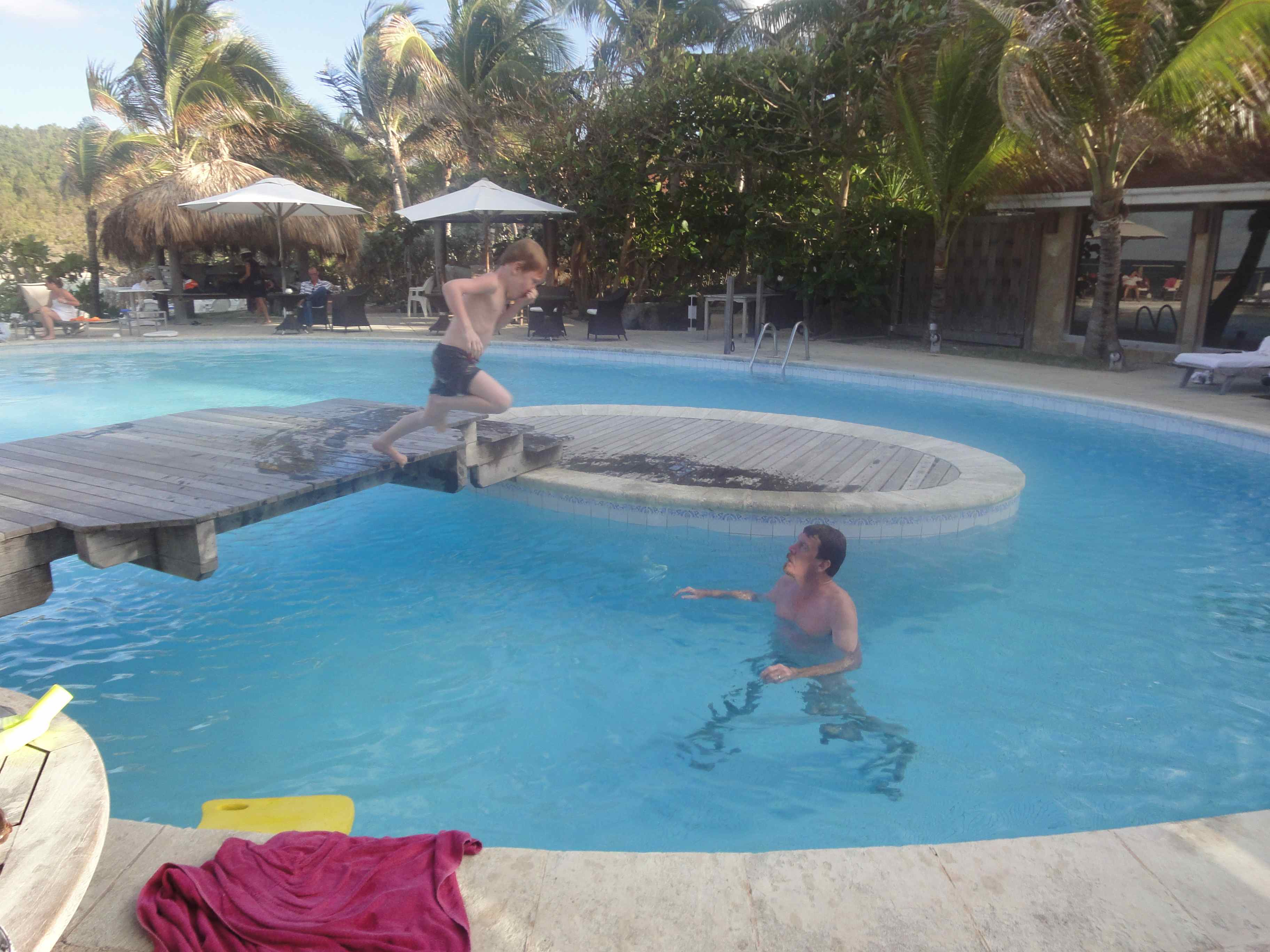 Hotel Pool - Francois mid-air