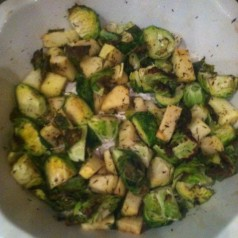 Roasted Brussels Sprouts with Apples and Cider Thyme Glaze