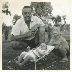 My father Francois Johan Walter van Kempen, with my then baby brother Adam, and me on the right